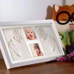 Pootack Cadre Empreinte Bébé Cadre de Photo pour Souvenir la Naissance de Bebe et Enregistrer les Empreintes du Pied et Main de Bébé - Blanc de la marque Pootack image 2 produit