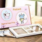 Pootack Cadre Empreinte Bébé Cadre de Photo pour Souvenir la Naissance de Bebe et Enregistrer les Empreintes du Pied et Main de Bébé - Blanc de la marque Pootack image 1 produit