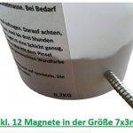 Premium Magnet de couleur–magnétique anziehbare Couleur/mastic avec 12aimants de pin–Créez un tableau d'affichage invisible–env. 1,5m²–Peinture Spachteln–Bricolage–Wow Effet de 0,7kg de la marque Magneto-Color image 2 produit