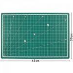PRETEX Premium Tapis de coupe avec surface d'auto-guérison (A3), 45 x 30 cm, Vert de la marque PRETEX image 3 produit
