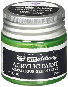 Prima Marketing finnabair Art Alchemy Peinture acrylique fluide 1,7ounces-metallique Vert olive, d'autres, multicolore de la marque Prima Marketing image 0 produit