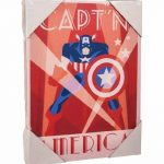 Pyramid International Marvel Captain America Impression sur Toile Déco, Coton, Multicolore, 1.8 x 30 x 40 cm de la marque Pyramid International image 1 produit