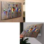 RAIN QUEEN 75X50cm Impression Sur Toile Grand Format Le Gorille Aime Musique 1 Partie Décoration Chambre Wall Art (Pret a Accrocher) de la marque RAIN QUEEN image 4 produit