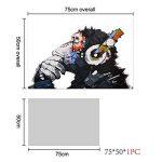 RAIN QUEEN 75X50cm Impression Sur Toile Grand Format Le Gorille Aime Musique 1 Partie Décoration Chambre Wall Art (Pret a Accrocher) de la marque RAIN QUEEN image 3 produit