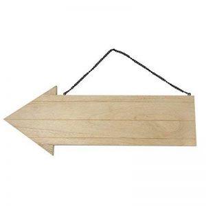 Rayher flèche en bois avec chaîne métallique – flèche signalétique à suspendre – accessoire parfait pour les activités de loisirs créatifs – bois de la marque Rayher Hobby image 0 produit