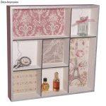Rayher étagère à casier – meuble de rangement à 7 caiers pour ranger des bijoux, des parfums & Cie – etagere en bois à décorer selon vos idées créatives de la marque Rayher Hobby image 1 produit