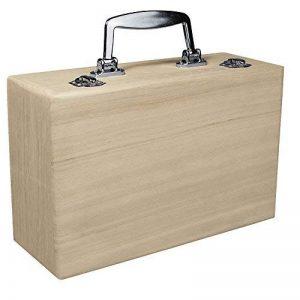 Rayher valise en bois à décorer – coffret en bois avec poignée en métal – idéale comme valise de rangement pour jouets, bijoux, affaires pour enfant – 25 x 16 cm, Hauteur 9 cm – couleur : nature de la marque Rayher Hobby image 0 produit