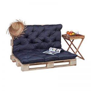 Relaxdays Coussin pour palette euro bois coussin jardin meuble banc banquette, gris de la marque Relaxdays image 0 produit