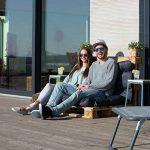 Relaxdays Coussin pour palette euro bois coussin jardin meuble banc banquette, gris de la marque Relaxdays image 1 produit