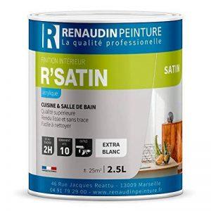 Renaudin Peinture 125205 R'satin Peinture acrylique finition Satin mur/plafond intérieur Blanc 2, 5 L de la marque Renaudin Peinture image 0 produit