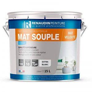Renaudin Peinture 130107 Mat souple Peinture acrylique mur/plafond intérieur finition Mat Blanc 15 L de la marque Renaudin Peinture image 0 produit