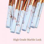 Rose Pinceaux Maquillage Professionnel 10 pièces Marbre Motif Lot de pinceaux de maquillage Fond de teint Blush poudre Fard à paupières Estompeur Cosmétique Brosse kit par Lark Bird … de la marque Lark Bird image 4 produit