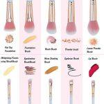 Rose Pinceaux Maquillage Professionnel 10 pièces Marbre Motif Lot de pinceaux de maquillage Fond de teint Blush poudre Fard à paupières Estompeur Cosmétique Brosse kit par Lark Bird … de la marque Lark Bird image 1 produit
