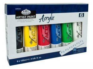 Royal & Langnickel ACR120-6 Assortiment de 6 Tubes de peinture acrylique 6 x 120 ml de la marque Royal & Langnickel image 0 produit