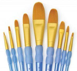 Royal & Langnickel Crafter's Choice Set de pinceaux langue de chat/lavis 9 pièces de la marque Royal & Langnickel image 0 produit