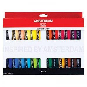 ROYAL TALENS Boite de 24 Peintures acrylique AMSTERDAM Introset III 20 ml de la marque Royal Talens image 0 produit