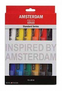 ROYAL TALENS Set 12 Tubes 20 ml Peinture Acrylique AMSTERDAM Introset II de la marque Royal Talens image 0 produit