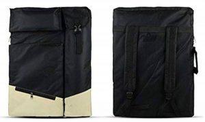 Sacs d'outils de dessin polyvalents - Sac de planche à dessin A2 - Sac à dos étanche de transport d'objets d'art noir de la marque Univegrow image 0 produit