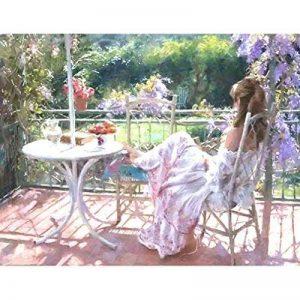 Sans Cadre Figure Peinture Belle Femme DIY Peinture par numéro Kits, Toile, Beautiful Women, Unframed de la marque Origial DE lamp image 0 produit