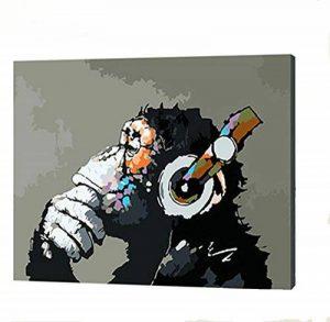 [Sans cadre] Peinture à l'huile bricolage by Numbers, Peinture au Numéro Kits - Numérique Peinture à l'huile Toile Mur Art Création Paysage Peintures pour Accueil Vie Pièce Bureau Noël Blanc Décor Décorations Cadeaux - Bricolage Peindre par Nombres Bricol image 0 produit