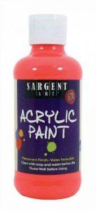 Sargent Art 22–2220226,8gram fluorescent Peinture acrylique, Rouge de la marque Sargent Art image 0 produit