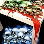 """SCHNEIDMEISTER Pochoirs pour aérographe motif Tête de mort : Field of Skulls VOL. 01(""""THE HATEFUL 12""""), Single/Quick Step EZ Skullmaker Artshield®, Größe L ca. A4 de la marque SCHNEIDMEISTER image 4 produit"""