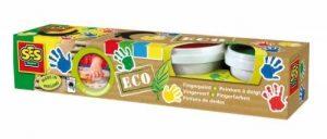 SES creative 24926 - ECO Peinture de doigt quatre couleurs de la marque Ses image 0 produit