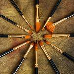 Set de 12 pinceaux Artify | Étui de transport permettant de présenter les pinceaux en pop-up, avec un couteau à palette, un grand pinceau plat et une éponge offerts | Parfait pour l'acrylique, l'huile, l'aquarelle et la gouache de la marque Artify Art Sup image 4 produit