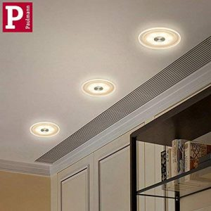 Set de 3spots encastrables Premium LED Whirl 3x 6W Verre, Aluminium, satin acrylique 150mm Ouverture encastrée: 100mm Profondeur: 40mm de la marque GCS image 0 produit