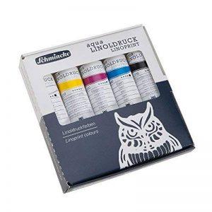 Set de 5 couleurs primaires extra-fines pour linogravure - tubes de 20 ml de la marque Schmicke image 0 produit