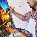 Set de peinture à l'huile – 24 tubes de couleur 12 ml – Peintures classe artiste pour professionnels, débutants et étudiants – Idéal pour peinture murale intérieure et extérieure, peinture sur toile, paysages & portraits – MozArt Supplies de la marque Moz image 4 produit