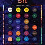 Set de peinture à l'huile – 24 tubes de couleur 12 ml – Peintures classe artiste pour professionnels, débutants et étudiants – Idéal pour peinture murale intérieure et extérieure, peinture sur toile, paysages & portraits – MozArt Supplies de la marque Moz image 2 produit