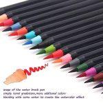Set de stylos pinceaux à deux pointes – 20 couleurs – Stylo Brosse avec Encre Aquarellable, à Base d'Eau et Non Toxique - Pointe Douce, Tendre et Flexible Parfaite pour Calligraphie, Coloriage ou Manga de la marque Exwand image 1 produit
