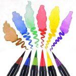 Set de stylos pinceaux à deux pointes – 20 couleurs – Stylo Brosse avec Encre Aquarellable, à Base d'Eau et Non Toxique - Pointe Douce, Tendre et Flexible Parfaite pour Calligraphie, Coloriage ou Manga de la marque Exwand image 2 produit