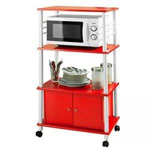 SoBuy® FRG12-R Meuble rangement cuisine roulant en bois, Chariot de cuisine de service micro-ondes de la marque SoBuy image 0 produit