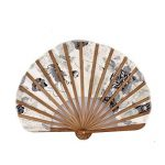 sourcingmap® Chinoises Mélange de soie Peinture fleur Pliage Danse Éventail 22cm Longueur de la marque Sourcingmap image 2 produit