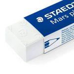 Staedtler Mars Plastic 526 50, Gomme blanche, Sans phtalate ni latex, set de 4 gommes plastiques blanches 65 x 23 x 13 mm, 52650BK4DA de la marque Staedtler image 2 produit