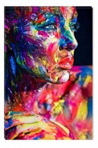 Startonight Impression Sur Toile Femme Coloré, Art Encadré Imprimée Tableau Motif Moderne DécorationTendu Sur Chassis Prêt à Accrocher 80 x 120 CM de la marque Startonight image 0 produit