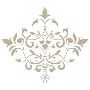 Stencil Mini Décoration damassé 022Stencil Taille: 12x 12cm Design Taille: 8,6x 7,5cm de la marque TODO-STENCIL image 0 produit
