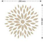 Stencil mural floral 003 fleurs. Mesures: mesure extérieure du Stencil: 30 x 30 (cm) mesure du design: 28 x 28 (cm) de la marque TODO-STENCIL image 2 produit