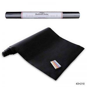Stickers Tableau Noir Ardoise - Tableau Noir Autocollant Repositionnable - 43cm x 210cm 5 craies - Ezigoo de la marque Ezigoo image 0 produit