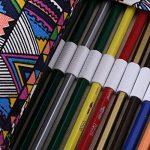 Sumnacon 72 Trous trous Enveloppe de crayon en toile naturel, trousse de crayon avec l'image de feuille d'érable, pratique pour mettre des crayons ou d'autre chose bande etc. de la marque Sumnacon image 2 produit