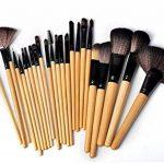 Sunjas Kit de 24 Pinceaux Maquillage - Brosse de Maquillage / Brush Cosmétique Beauté & Make-up Make Up Brush Pinceau cosmétique de qualité Professionnel de la marque Sunjas image 3 produit