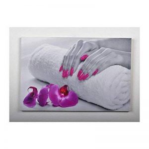 Tableau déco mains - toile imprimée paillettes - 40x60x2,5cm de la marque Générique image 0 produit