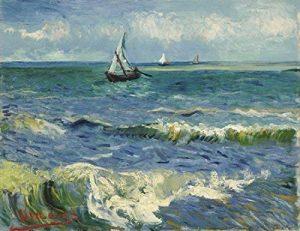 Tableau Wieco Art - Reproduction de « Marines aux Saintes-Maries-de-la-mer » de Vincent Van Gogh en impression au jet d'encre - Pour chambre ou salon de la marque Wieco Art image 0 produit