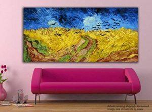 Tamatina Peinture sur toile–Champ de blé avec corbeaux–Vincent van Gogh–Art de Toile, Tissu, multicolore, Taille L de la marque Tamatina image 0 produit