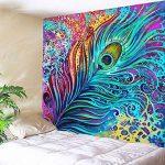 Tapisserie De Plume De Paon Aquarelle Effet Peinture Art Image Imprimer Polyester Mur Tapisserie Paon Décoration Mode Modèle Par RLF.LF de la marque RLF LF image 4 produit