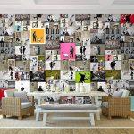Tapisserie Photo Banksy mosaïque 352 x 250 cm Laine papier peint Salon Chambre Bureau Couloir décoration Peinture murale décor mural moderne - 100% FABRIQUÉ EN ALLEMAGNE - 9084011a de la marque Images et Papier peint Runa image 1 produit