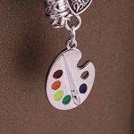 Tendance en émail Artiste Palette de peinture et brosse blé Bracelet chaîne cadeau Bijoux pour femme de la marque My Shape image 3 produit