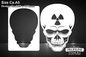 Tête de mort Atom SK-Brush Pochoir–Nuclear Skull Stencil de la marque SK-Brush image 0 produit